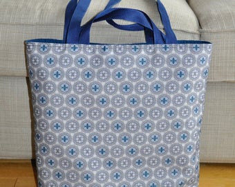 Blue and Grey Tote