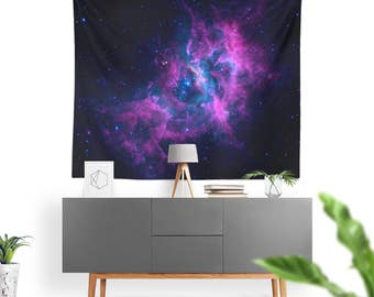 Wall Tapestry - Wall Hanging- NEBULA Space, Galaxy, Stars, Universe, INDOOR/OUTDOOR - Dorm Decor, Dorm Room, Wall Art