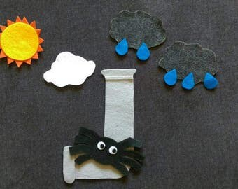 The Itsy Bitsy Spider Felt Set // The Great Big Spider // Flannel Board Story Set // Preschool // Teacher Story // Language Development