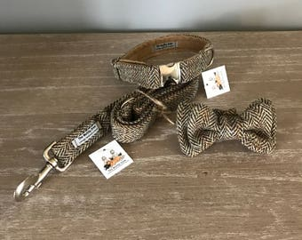 Harris Tweed Herringbone Lead and Collar Sets ( LEASHES & COLLAR SETS)