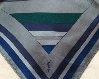 YSL, silk clutch bag