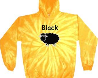 Men's Black Sheep of the Family Tie Dye Hoody BLACKSHEEP-8777