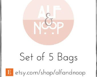 Set of 5 Favor Bags