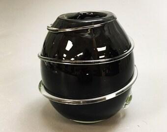 Thick Black Bubble Vase