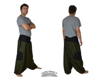 Fleece Harem Pant army green