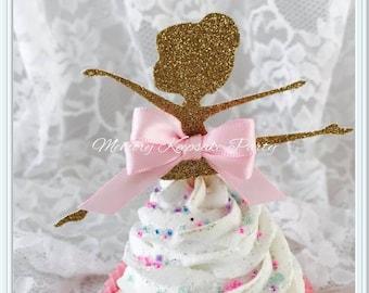 Ballerina Cupcake Toppers - Ballerina Party Decorations - Ballerina Party Decor - Ballerina Birthday Party Cupcake Toppers - Ballet Cupcakes
