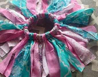pink & blue fabric tutu