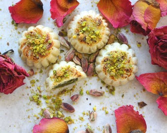 Father's Day Gift, Marzipan filled with Turkish Pistachio Paste- 12 pcs, all natural, made from scratch, handmade, gluten & dairy Free