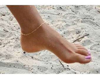 Anklet/ Goldplated /Classic /Fine/ Round