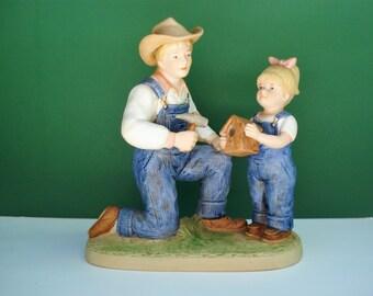 "SALE - Denim Days Collection -  Figurine - ""Debbie's Dad""  by Homco"