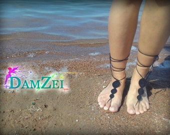 Lace Barefoot Sandal, Barefoot Anklet, Foot Jewelry
