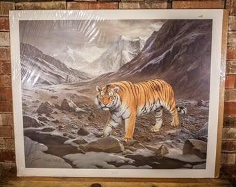 Vintage Charles Frace Siberian Tiger Signed Numbered Limited Edition Print The Frame House Gallery Artwork Wildlife Nature Fine Art