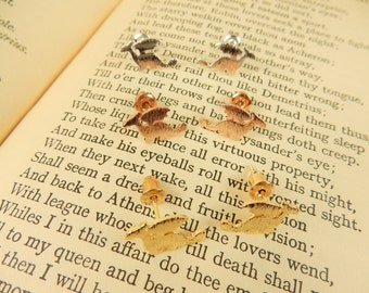 Dragon Earrings, Silver Studs, Rose Gold Earrings, Welsh Emblem, Mythical Jewellery, Gold Stud Earrings, St David's Day