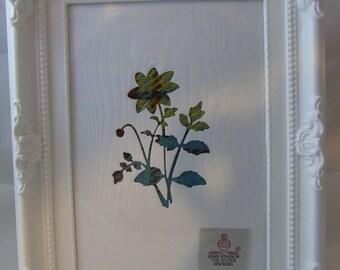 Handmade Harris Tweed Flower Picture (free P&P)