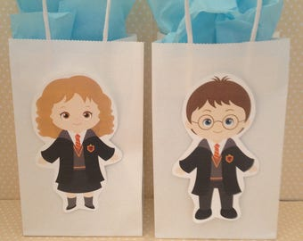 Harry Potter Party Bags With Handles - Set of 10