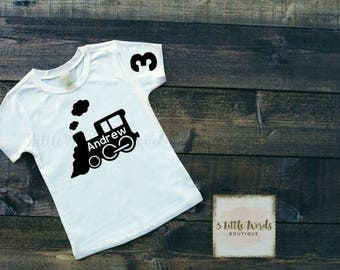 Train Birthday Shirthirt | choo choo train birthday shirt | train t-shirt | train shirt | train birthday party | choo choo train party