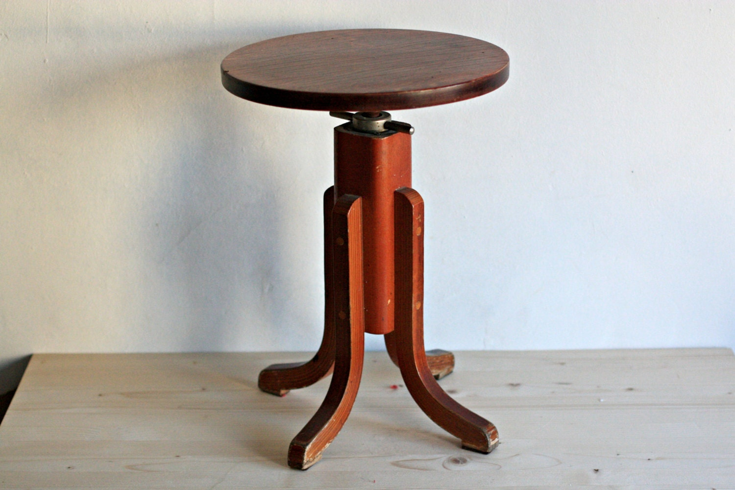 vintage piano stool artist stool wooden coffee table