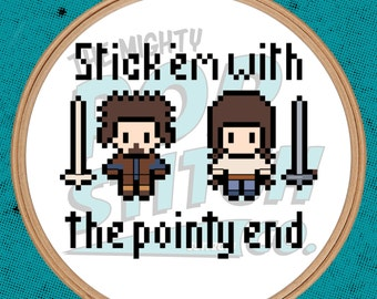Game of Thrones - Stick 'em with the pointy end - Cross Stitch (PATTERN ONLY)
