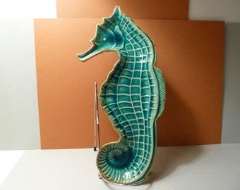 Red Ware, Seahorse, Home Decor Dish