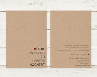 Wedding invitation | Kraft paper | Typography