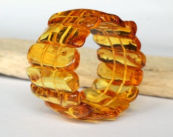 Lemon amber bracelet, summer style amber bracelet, amber jewelry, genuine Baltic amber, fashion bracelet, classic organic bracelet, bracelet