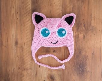 Jigglypuff Hat, Crochet Jigglypuff Hat, Jigglypuff Crochet Hat, Jigglypuff, Jigglypuff Beanie, Pokemon Hat, Pokemon Crochet