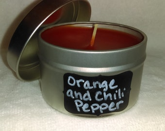 Orange and Chili Pepper Tin