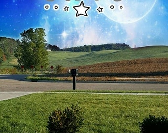 Reach for the Stars Landscape Sticker