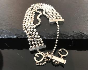 Gucci bracelet, Authentic Gucci silver bracelet, vintage Gucci boule bracelet, Gucci beaded statement bracelet