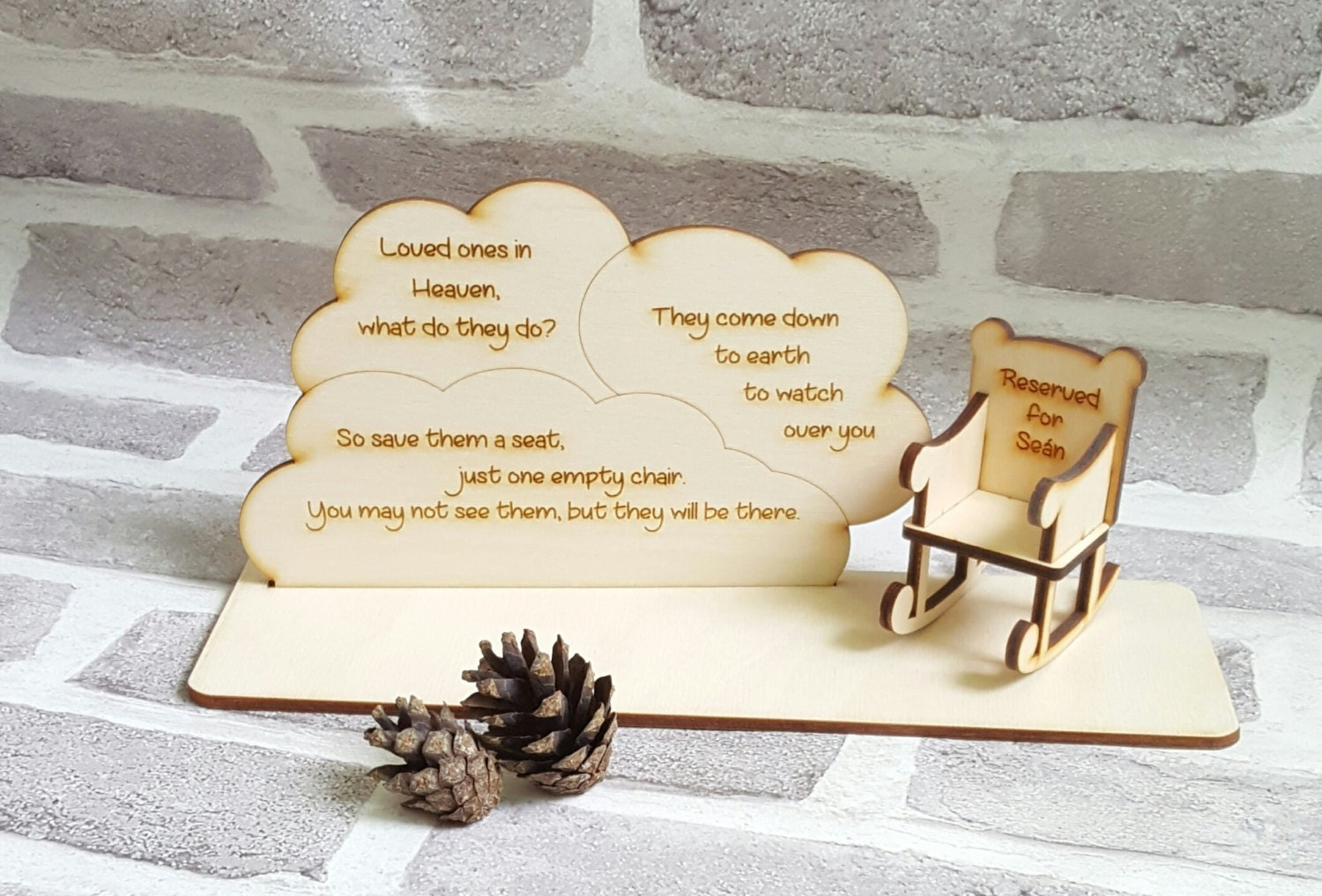 Ornaments for loved ones lost - Lost Loved One In Heaven Remembrance Decoration Christmas In Heaven With Chair Plaque Bereavement