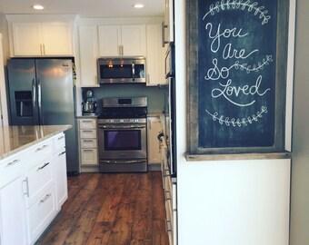 Rustic Wood Framed Chalkboard