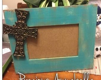 Frames, distressed frames , 4x6 frames , 5x7 frames , hand painted crosses