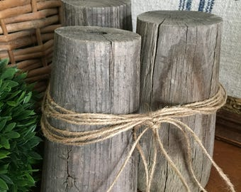 Salvaged Vintage Old Wood Fence Posts Finials Decor