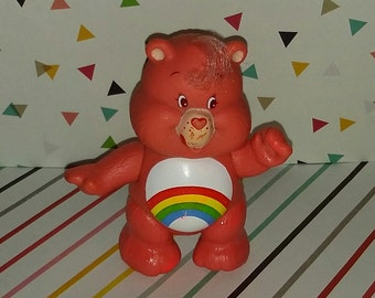 Vintage 1980s Care Bear Cheer PVC Figure