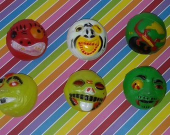 Vintage Lot of 6 1980s Vending Machine Bootleg Madballs Toys