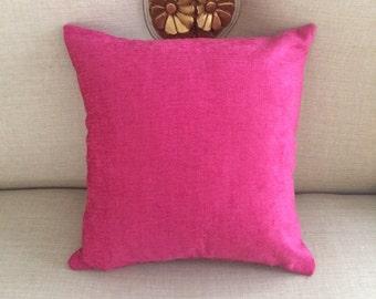 """Decorative Pillow Cover Designer Pillows Interior Design 19"""" x 19"""" Throw Pillow Lumbar Pillow Sofa Pillow Accent Pillow Pink Pillow Velvet"""