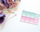June Faux Glitter Habit Trackers -- Matte Planner Stickers