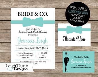 Bridal Shower Invitation, Bridal Party, Inspired by Breakfast at Tiffany's Invitation, Birthday Invitation, Bridal Shower, Bride & Co.