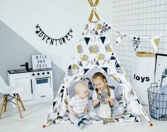 Kids Teepee Tent, Childrens Teepee, Teepee Tent for Kids, Canvas Teepee, Play Teepee, Play House, Teepee Set, Girl Teepee, Kids Wigwam, Tipi