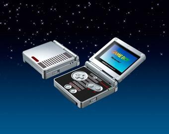 Game Boy Advance SP NES Edition Skin