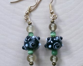 Black and White Bauble Earrings