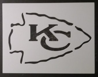 Kansas City Chiefs Football Custom Stencil FAST FREE SHIPPING