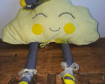 Yellow cloud pillow