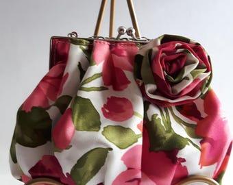 Women's Vintage Purse, Romantic Purse, Wedding Clutch, Retro Handbag, Evening Bag, Bridesmaid Clutch, Shoulder Bag, Clutch, Gifts