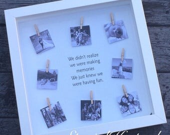Personalised Family Memory Photo Frame Hearts Love Life Name Bepsoke Keepsake Friends Custom Frame Hanging Pictures Quote Marriage Children