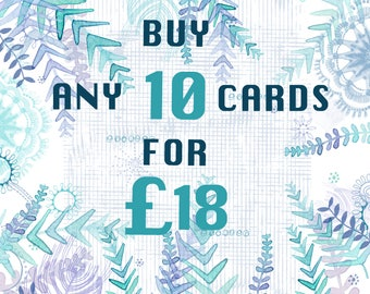 BUY-ANY-10-CARDS -Greeting Card-Offer-Any Occasion