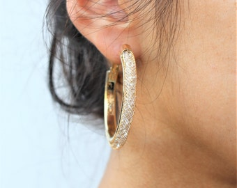 Crystal Mesh Earrings Silver, Gold, Rose gold