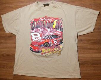 Vintage nascar dale earnhardt jr t shirt mens 2xl xl 90s racing car