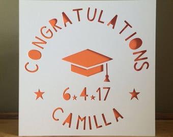Graduation Card, Graduate Card, Congratulations Card, Graduation  Hat Card, Personalised Card, Handmade Card, Personalized Card, Handmade