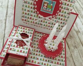 "Easel card ""Christmas train"""